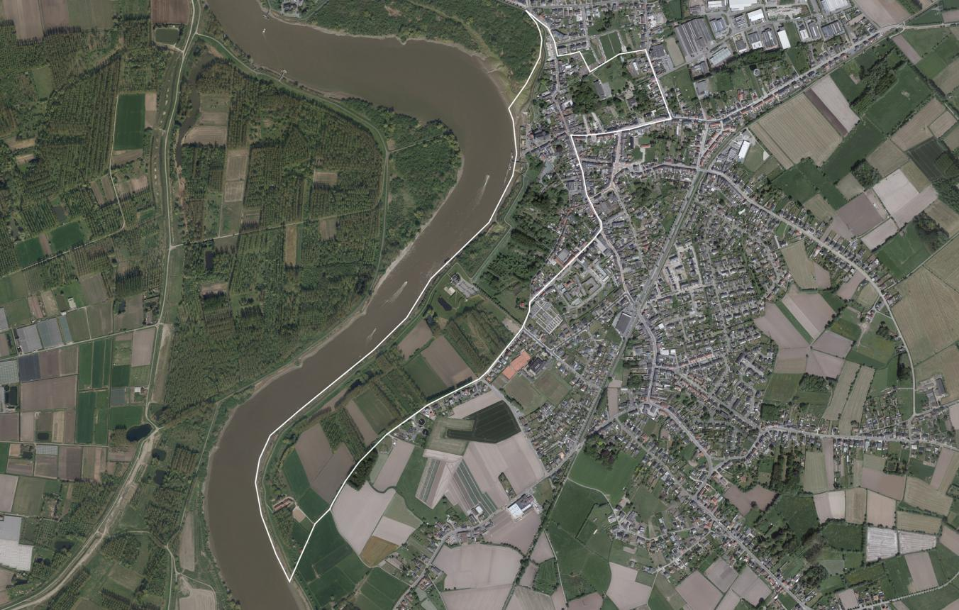 OO3710_Luchtfoto_Masterplan kaaien Puurs-Sint-Amands ©GDI-Vlaanderen