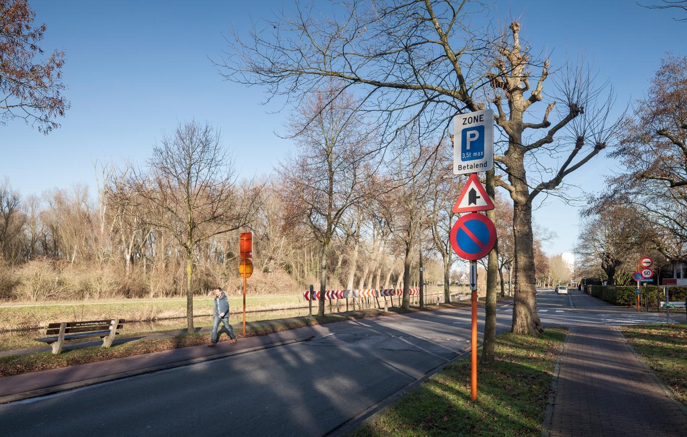 Site Fabiolaan - Leie waar de fietsbrug zal worden gebouwd