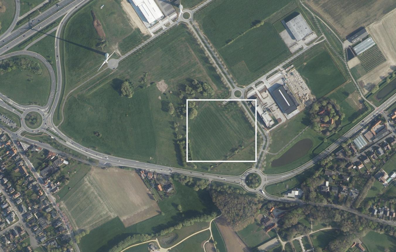 Luchtfoto projectgebied OO4001 Hulpverleningskazerne Fluvia Kortrijk