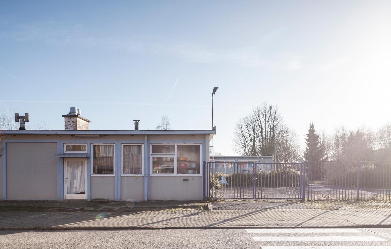 luchtfoto site kleuter- en lagere school Melle