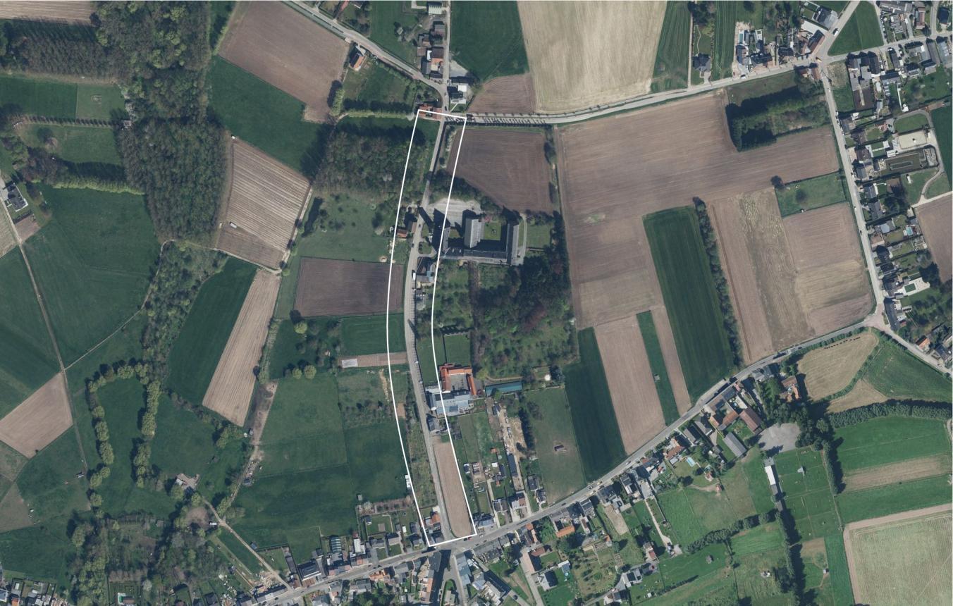 OO3404_Affligem Abdijstraat luchtfoto