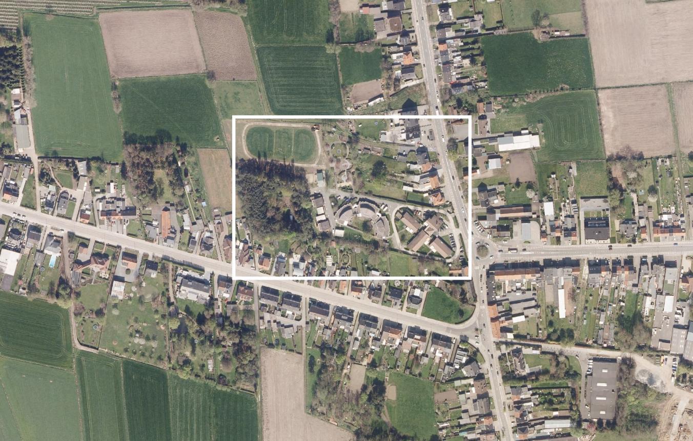 Luchtfoto projectgebied OO4002 Site Patershoek Sint-Niklaas Vesta vzw