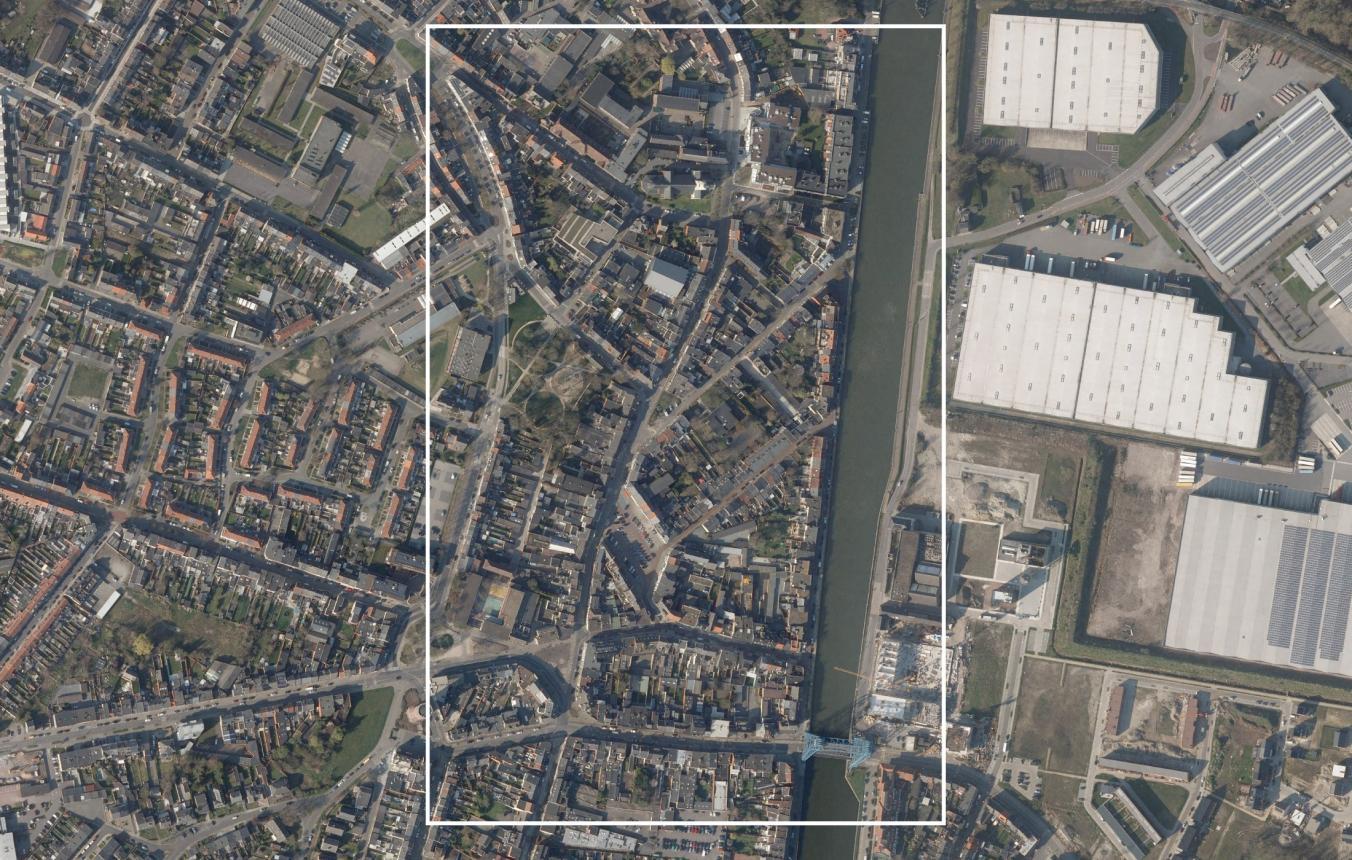 Luchtfoto projectsite OO4107 Masterplan centrum Willebroek