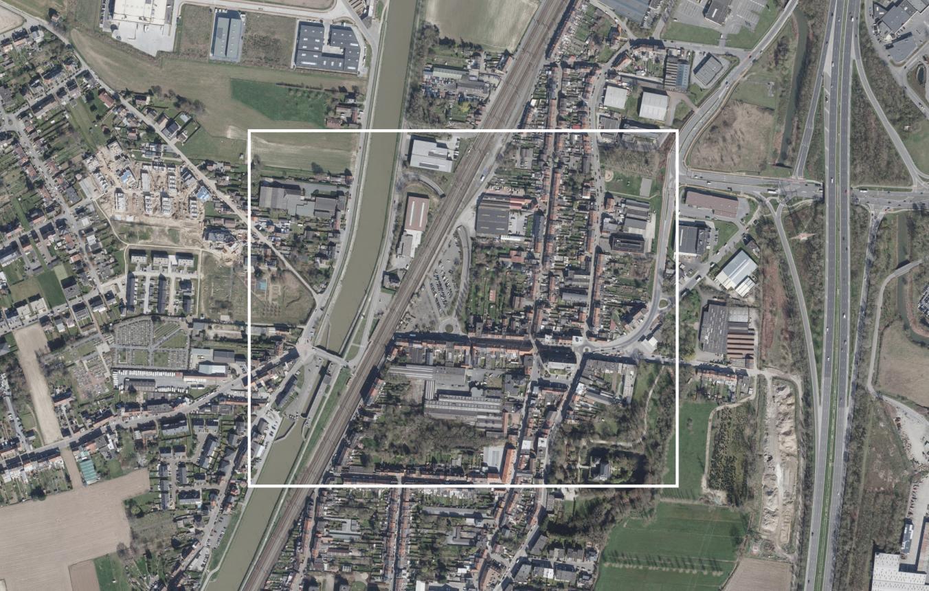Luchtfoto projectsite OO4109 Stationsomgeving Ruisbroek