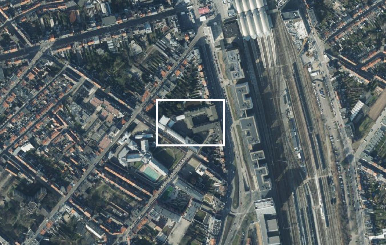 luchtfoto site International House Leuven