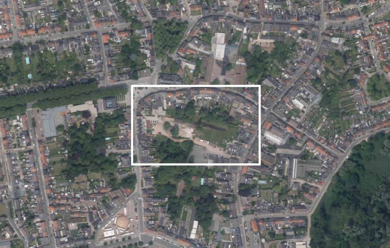 Binnengebied Niel luchtfoto