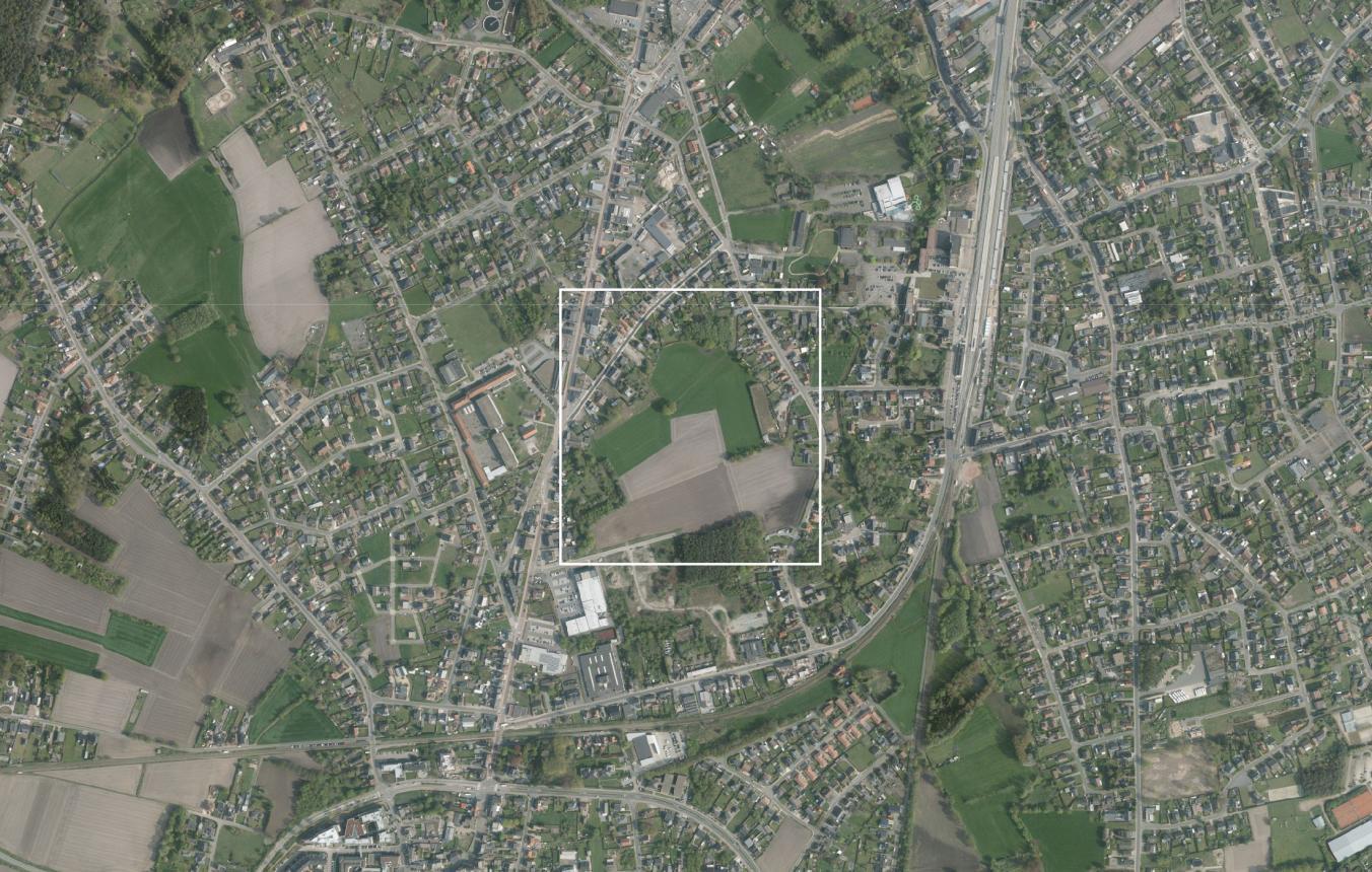 Ontwikkeling binnengebied Overpelt luchtfoto