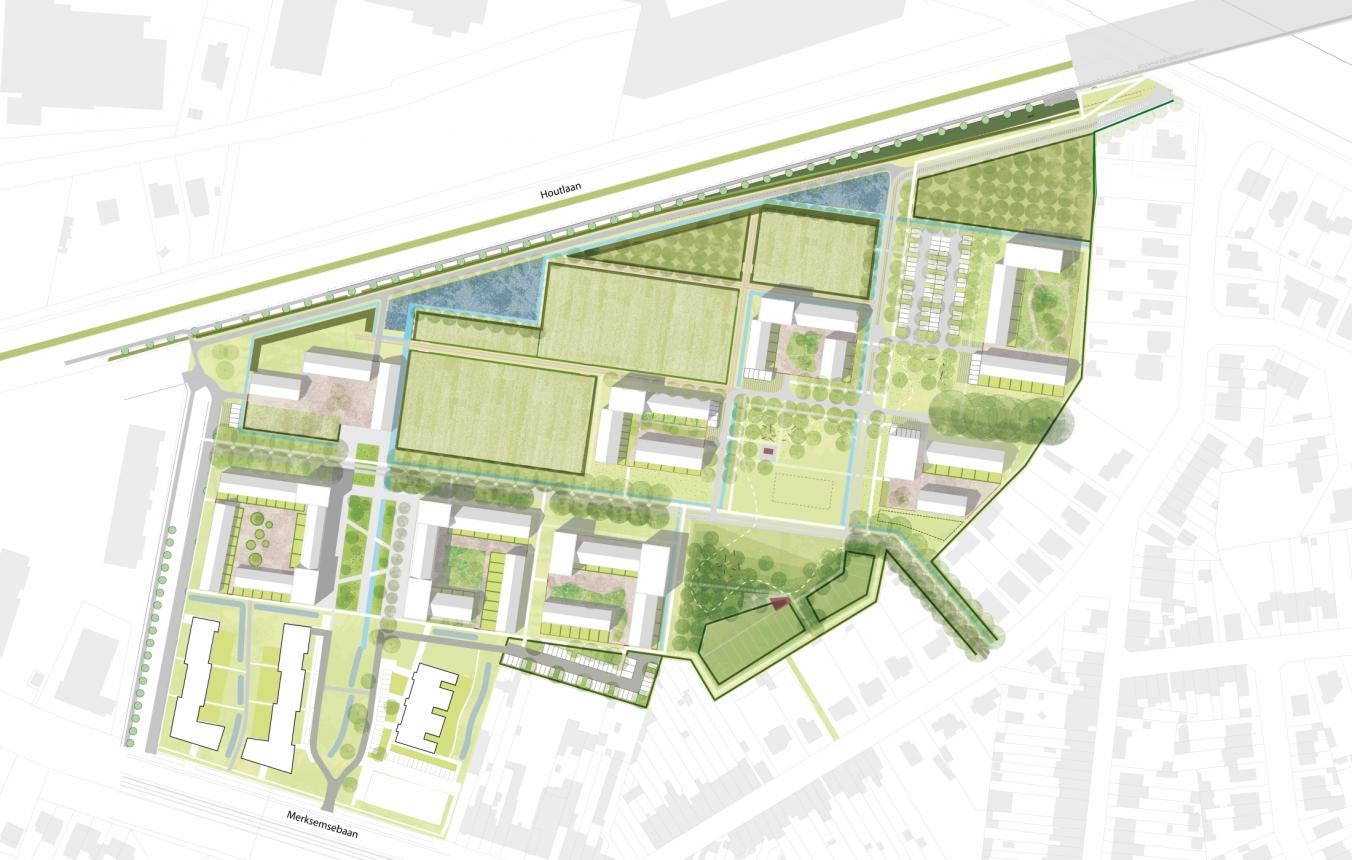 Beeld masterplan © Collectief Noord i.s.m. LAMA Landscape Architects, denc!-studio, Common Ground, EVA-International bvba