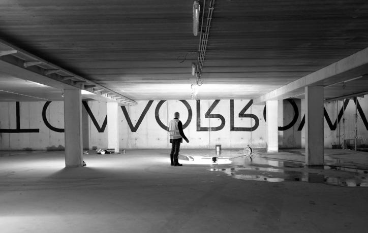 Kunstwerk van Joris Ghekiere in het Provinciegebouw Antwerpen in het kader van de Pilootprojecten Kunst in Opdracht