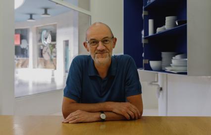 Erik Wieërs in het Atelier Bouwmeester