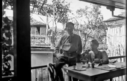August Klipstein en Charles Edouard Jeanneret in 1911
