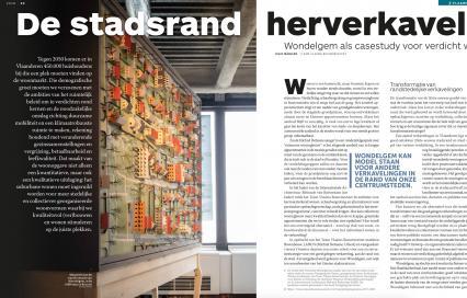 De stadsrand herverkavelen, Wondelgem als casestudy voor verdicht wonen, tijdschrift Ruimte
